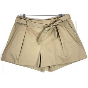 1901 Pleated twill bow front side zip shorts 9336